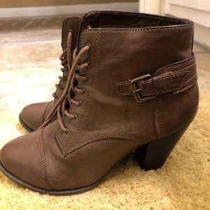 Brown Chunky Heel Boot